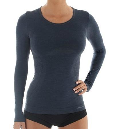 Koszulka damska Brubeck Comfort Wool LS11610